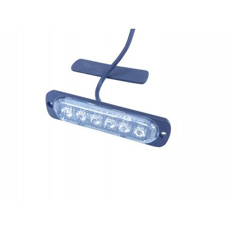 LUZ PPERIMETRAL LED AMBAR 6LED 12-24V